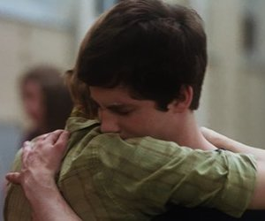 logan lerman, emma watson, and hug image