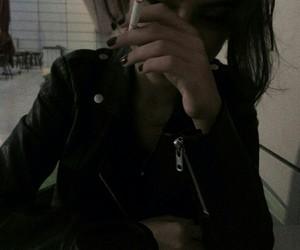 girl, smoke, and black image