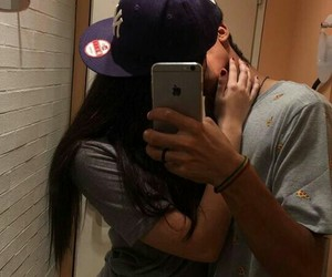 cap, boy, and girl image