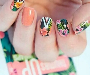 art, flowers, and nail image
