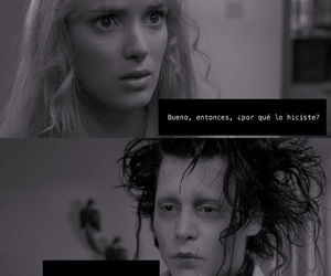 edward scissorhands, pelicula, and sad image