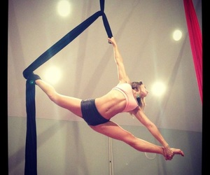 aerial, flexible, and splits image