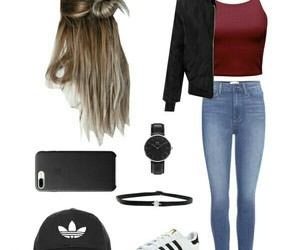 adidas, choker, and fashion image