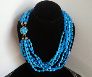 etsy, mid century, and blue necklace image