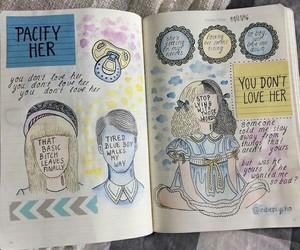melanie martinez, book, and drawing image