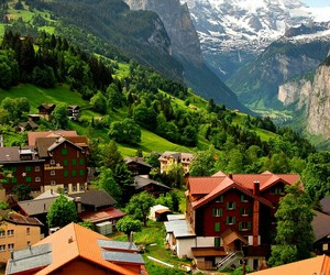 switzerland, mountains, and green image