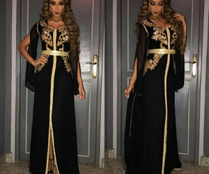 fashion, caftan kaftan takchita, and woman girl image