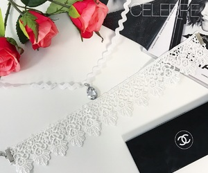 chanel, choker, and roses image