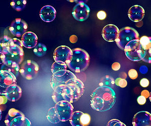 color, pink, and bubbles image
