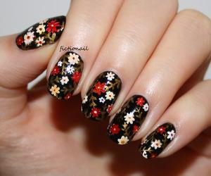 floral, nail, and nail art image