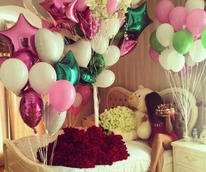 balloons, birthday, and surprise image