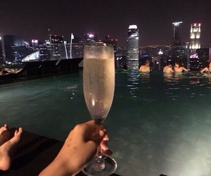 drink, night, and champagne image