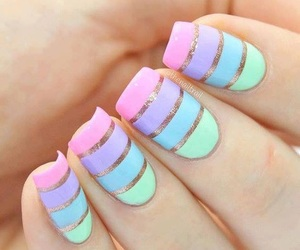 nails, nail art, and art image