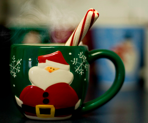 christmas, santa, and coffee image