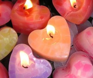 candle, pink, and theme image