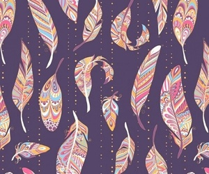 pattern, feather, and wallpaper image