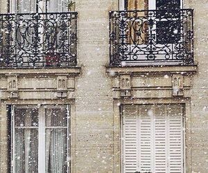 snow, winter, and paris image