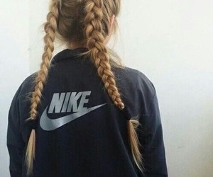nike, hair, and braid image