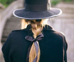 braid, hair, and hat image