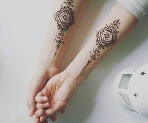 henna, tattoo, and mehendi image