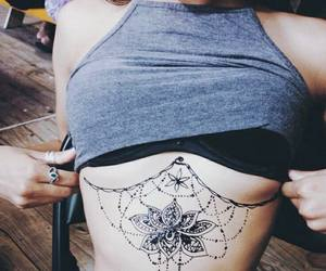 Boob, tattoo, and under boob image