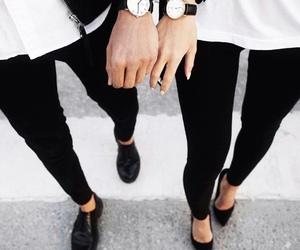 fashion, couple, and black image