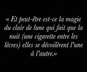 amour, cigarette, and lune image