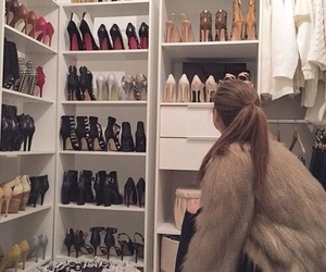 brunette, high heels, and louboutins image