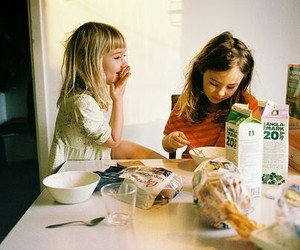 girl, breakfast, and child image