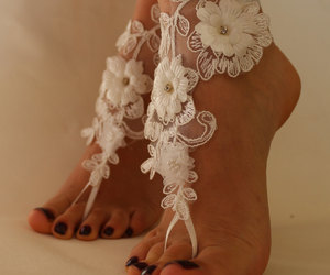 etsy, wedding shoes, and barefoot sandals image