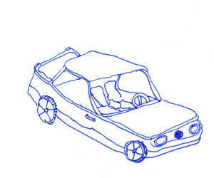 art and car image