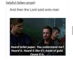 funny, god, and supernatural image