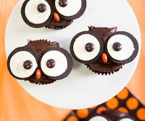 owl, cupcake, and food image