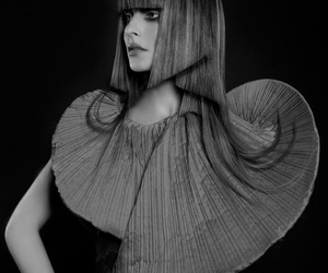 avant garde, black and white, and high fashion image