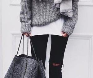 bag, girl, and holiday image