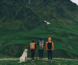 mountains, dog, and family image