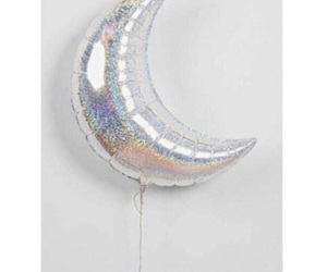 moon, balloons, and grunge image
