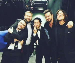 austin nichols, the walking dead, and steven yeun image