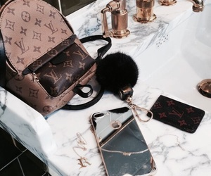bag, iphone, and Louis Vuitton image