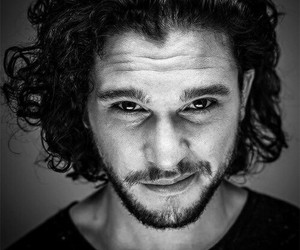 actor, b&w, and game of thrones image