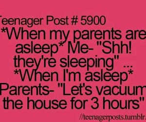 teenager post, funny, and parents image
