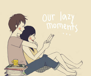 couple, Lazy, and moment image