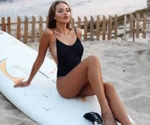 brunette and model image
