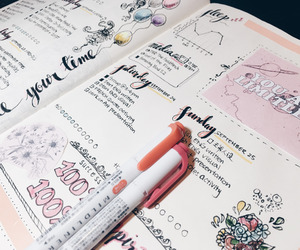 drawing, writing, and cute image
