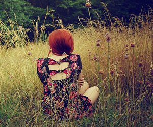 back, curves, and grass image