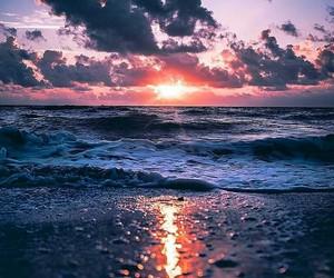 beach, Island, and sky image