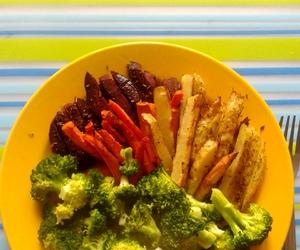 food, fries, and vegan image