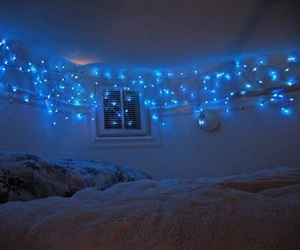 light, blue, and room image