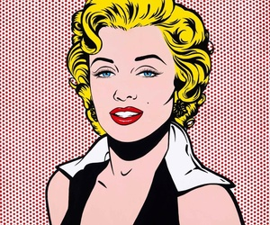 Marilyn Monroe and pop art image