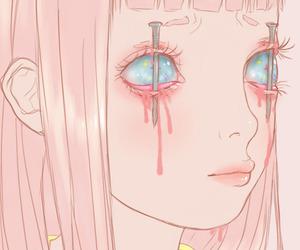 pink, kawaii, and creepy image
